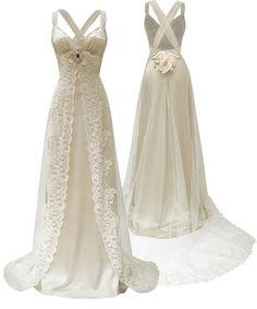 New Backyard Wedding Dress Claire Pettibone Ideas Cute Wedding Dress, Fall Wedding Dresses, Colored Wedding Dresses, Perfect Wedding, Wedding Gowns, Dream Wedding, Wedding Day, Wedding Blog, Wedding Stuff