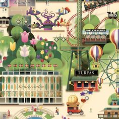 Tivoli gardens summer map 2013
