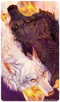 Tarot : TWO OF CUPS by leptailurus-serval