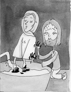 A funny representation of what happens when Lord and Lady Macbeth commit King Duncan's assassination. Supposed to represent how the witches have destroyed Macbeth's life as well as his mental state.