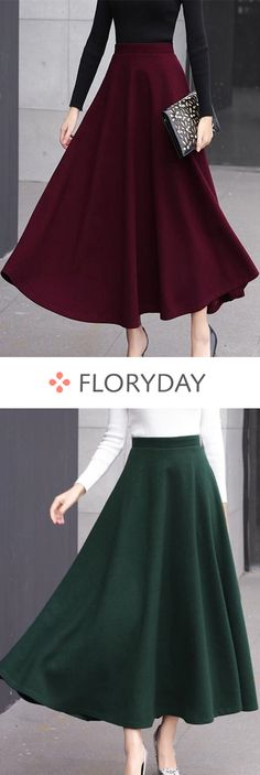 Buy Skirts, Online Shop, Women's Fashion Skirts for Sale Classy Outfits, Pretty Outfits, Casual Outfits, Long Skirt Fashion, Fashion Dresses, Mode Outfits, Skirt Outfits, Moda Fashion, Womens Fashion