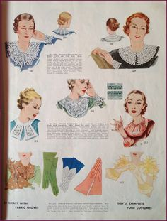 More fagoted collars from the 1930sMcCall Pattern catalog ~ NewVintageLady: Catalog Sunday