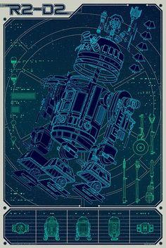 R2 D2 Blue print