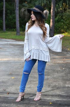 Click to shop - free shipping over $50!  Watch Me Whip Top - Taupe – Worn & Raised