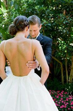 Beautiful backless wedding dress