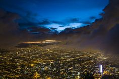 Bogota- Colombia at Night Latin America, Places Ive Been, Waterfall, This Is Us, River, Night, World, Shop, People