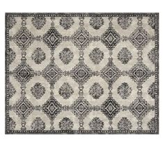 9'x12' for under Bernhardt two piece sectional  Karly Rug - Ivory/Black
