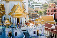 """""""Temple Wat Traimit"""" au centre de Bangkok (Thaïlande)"""