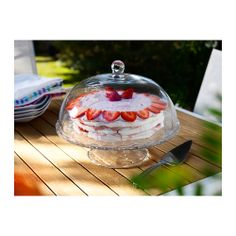 ARV BRÖLLOP Cake stand with lid IKEA The serving stand is a festive way to serve pastries, cheese or cakes.