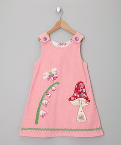 Take a look at this Pink Fairies In The Garden Cord Dress by Powel Craft on #zulily today!