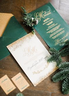 Wonderful Winter Wedding Invitations! - Elegant Emerald | CHWV