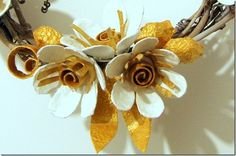 more egg carton flowers