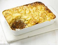 Mary Berry's shepherd's pie with dauphinois topping