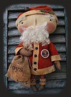 Primitive E-PATTERN 14 Snowman Santa Doll par SweetMeadowsFarm