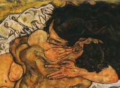 Egon Schiele The Embrace (detail), 1917 / Painting