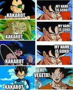 Only Vegeta can call Goku his birth saiyan name Kakarot. Turles, Broly and Raditz