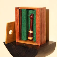 Custom Ordered Cigarette Holder - Padauk and Yellow Heart wood cigarette holder, hand turned, with box - Handmade, One of a Kind by ShelfLifeShop on Etsy