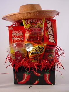 Cinco de Mayo gift basket. This would even be great for a party theme.