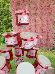 Favors at a Mother's Day party! See more party ideas at CatchMyParty.com!Jam at a Garden Party #garden #party