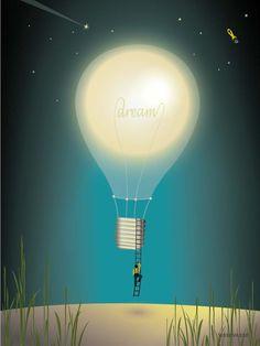 Vissevasse dreaming plakat (bedroom)