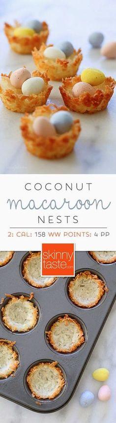 Coconut Macaroon Nests                    Skinnytaste Good.