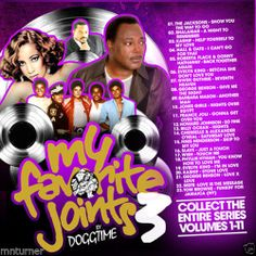 My Favorite Joints Vol 3 Old School R&B Classics Mixtape CD - DJ Doggtime