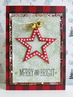 MME Comfort and Joy - Merry and Bright card