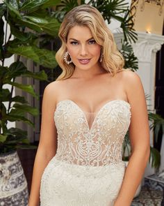 Style BL358 Amanda | Sexy Beaded Fit and Flare Wedding Dress from Beloved by Casablanca Bridal | Beloved By Casablanca Bridal Wedding Dress Types, Fit And Flare Wedding Dress, Strapless Sweetheart Neckline, Fit And Flare Skirt, Affordable Wedding Dresses, Casablanca, Ball Gowns, Tulle, Bride