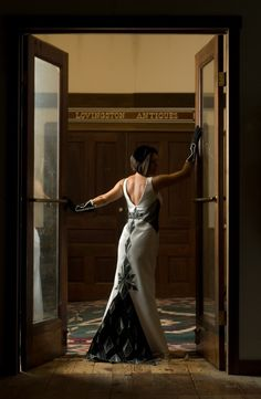 Deco Black and White Gown by rosalba on Etsy, $450.00