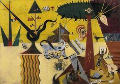 The Tilled Field - Joan Miro Painiting (1923-23) one of his first paintings to be classified as surrealist.