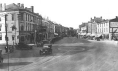 Paul Street in St. Catharines, Ontario sometime in This is my hometown guys! Niagara Region, St Catharines, Niagara Falls, Old Photos, Ontario, Beautiful Places, Saints, Scenery, Street View