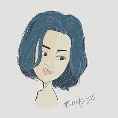 #sticky50 試作その28「別に女子」髪が青いからカミーユ・ビジョか