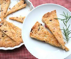 Cranberry Rosemary Shortbread (Low Carb and Gluten-Free)