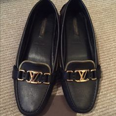 Shoes Authentic Louis Vuitton shoes. Was warn once. In exellent condition. Like brand new. Louis Vuitton Shoes Flats & Loafers