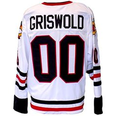 c3fd162ff Chevy Chase Custom Griswold Christmas Vacation White Jersey Medium   gt  gt  gt  Click