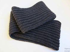 Bufanda para hombre tejida con Katia Merino por @Ana | Scarf for men knitted with Merino #yarn #knitting