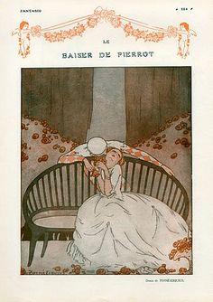 Torné-Esquius 1915 The Kiss of Pierrot