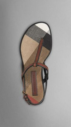 Burberry Canvas Check And Leather Sandals Cute Sandals, Cute Shoes, Me Too Shoes, Mode Masculine, Shoe Closet, Types Of Shoes, Beautiful Shoes, Shoe Collection, Shoe Game