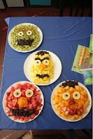 Sesame Street Birthday: Healthy stuff for a Sesame Street party theme