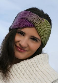 this headband is LOOM-KNIT!! (and shows the same process you would need to make the braided scarf- just add one piece!)