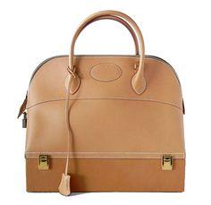 Hermes Vintage Steele Macpherson Bag Barenia Leather Gold Hardware Rare #hermes