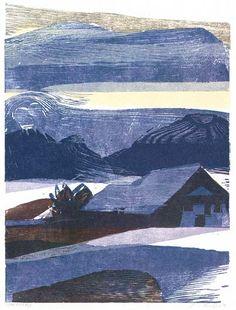 Winter landscape with farm, Heiner Bauschert, WV 384