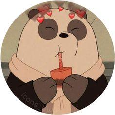 Cute Panda Wallpaper, Bear Wallpaper, Emoji Wallpaper, Cute Disney Wallpaper, We Bare Bears Wallpapers, Panda Wallpapers, Cute Cartoon Wallpapers, Wallpapers Android, Panda Icon