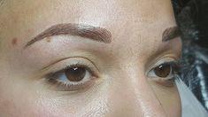 Semi permanent makeup hairstroke eyebrows tattoo 😀😉 Semi Permanent Eyebrow Tattoo, Permanent Makeup Eyebrows, Semi Permanent Makeup, Contour, Eyes, Tattoos, Face, Beauty, Contouring