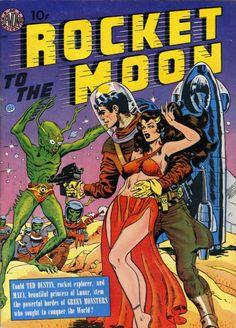 Rocket to the Moon comics, Joe Orlando, 1951