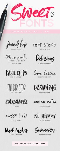 Super sweet fonts to exploit your creativity! - Fonts - Ideas of Fonts - Super sweet fonts to exploit your creativity! Tattoo Fonts Alphabet, Handwriting Alphabet, Hand Lettering Fonts, Calligraphy Alphabet, Typography Fonts, Lettering Tutorial, Cool Handwriting, Lettering Styles, Font Tattoo