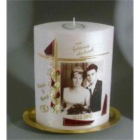 Kerzen Junglas | Fotokerze Goldene Hochzeit - mit Teelicht 7017 | 7017 |