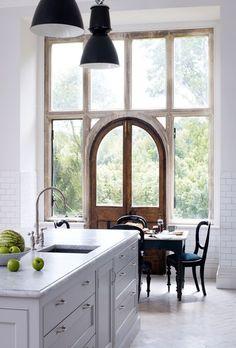 Rustic + classic mix kitchen