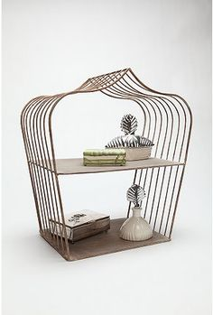 Make your own - cut out front or front and back of a bird cage and add a shelf!!!  Sit on tabletop or hang!  Enjoy!
