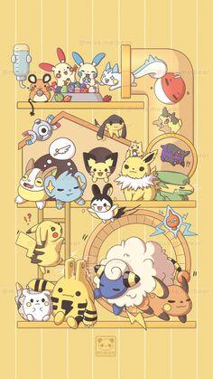 Melissa Chan - { aesthetic pokemon } ⚡ Electric Edition ⚡ Pokemon Backgrounds, Cool Pokemon Wallpapers, Cute Pokemon Wallpaper, Cute Cartoon Wallpapers, Animes Wallpapers, Eevee Wallpaper, Rayquaza Pokemon, Pokemon Gif, Pokemon Comics